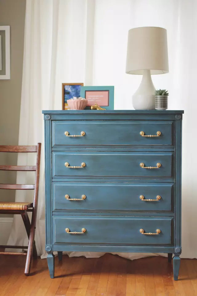 Blue dresser above from A Simpler Design